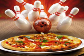 Pizza-Bowling